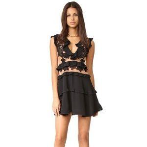 BNWT For Love & Lemons Laney Lou Dress Black S